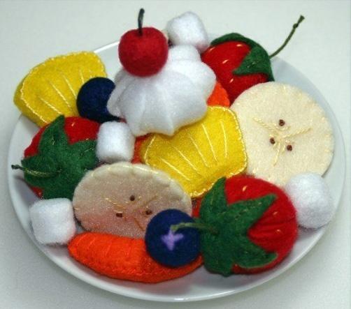 Potraviny na hraní vyrobené z filce